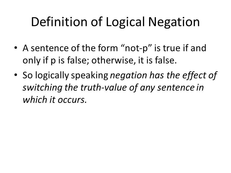 Definition of Logical Negation