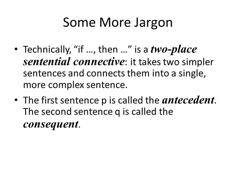 Some More Jargon