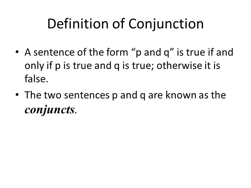 Definition of Conjunction