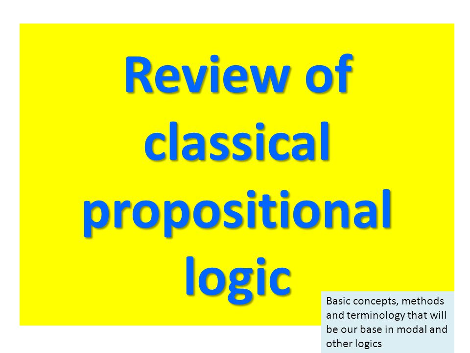 Review of classical propositional logic