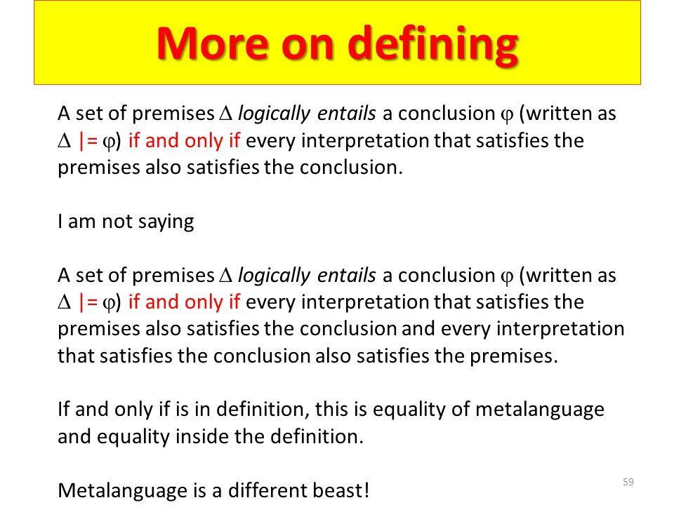More on defining