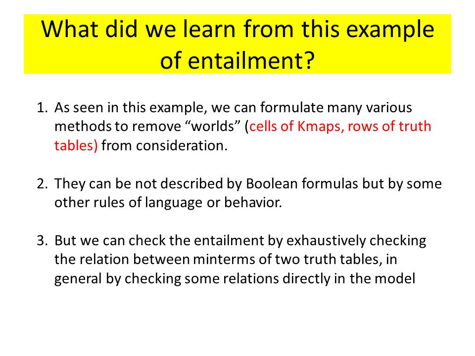 What did we learn from this example of entailment
