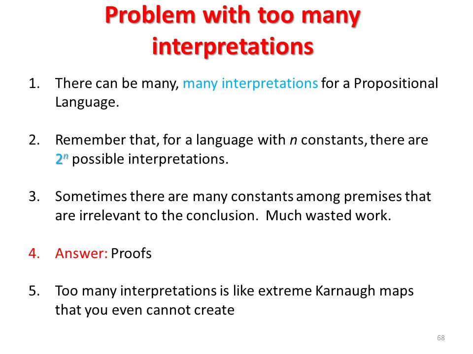 Problem with too many interpretations