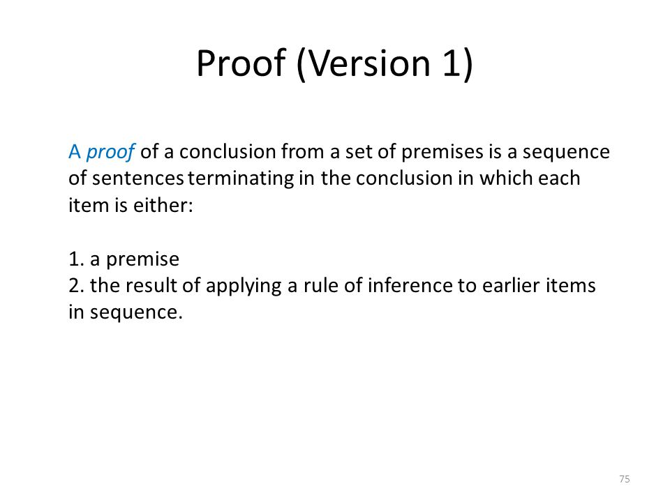 Proof (Version 1)