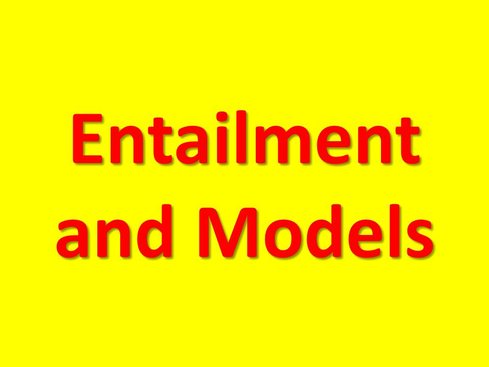 Entailment and Models