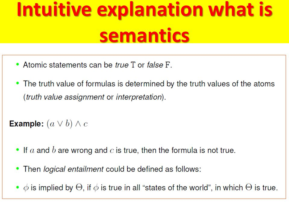 Intuitive explanation what is semantics
