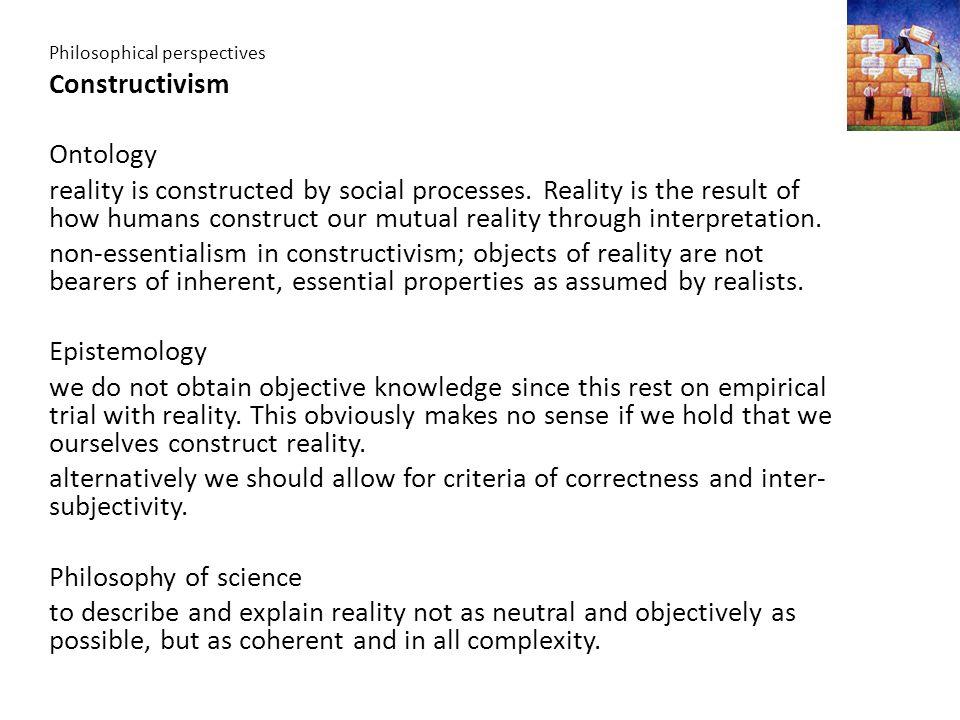Constructivism Ontology