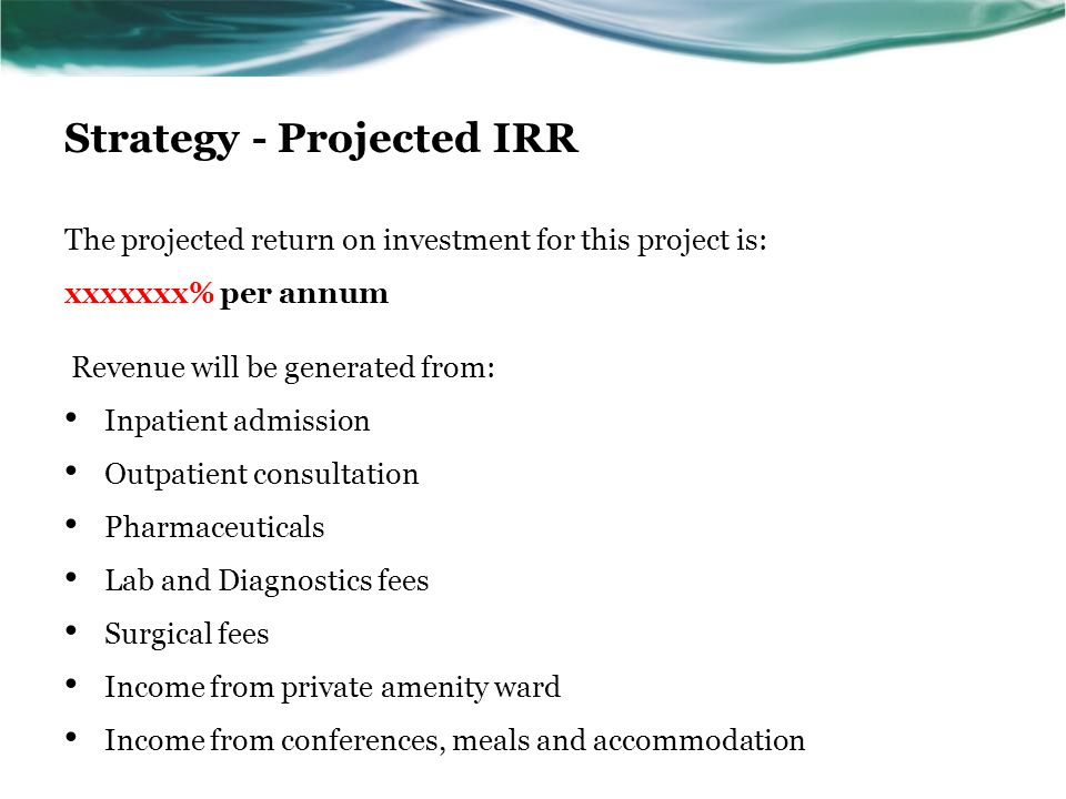 Strategy - Projected IRR