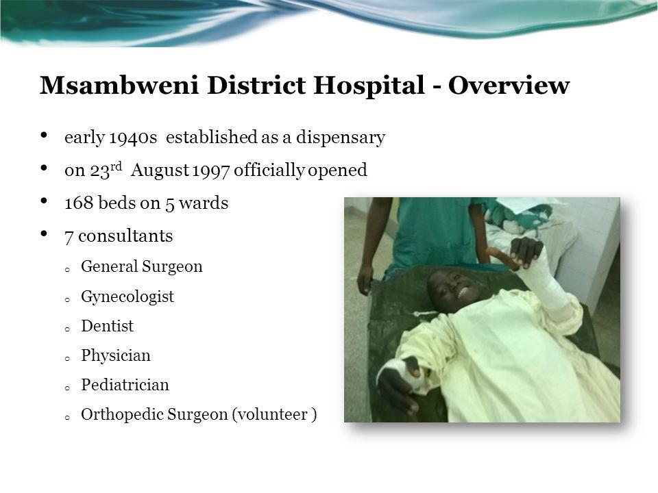 Msambweni District Hospital - Overview