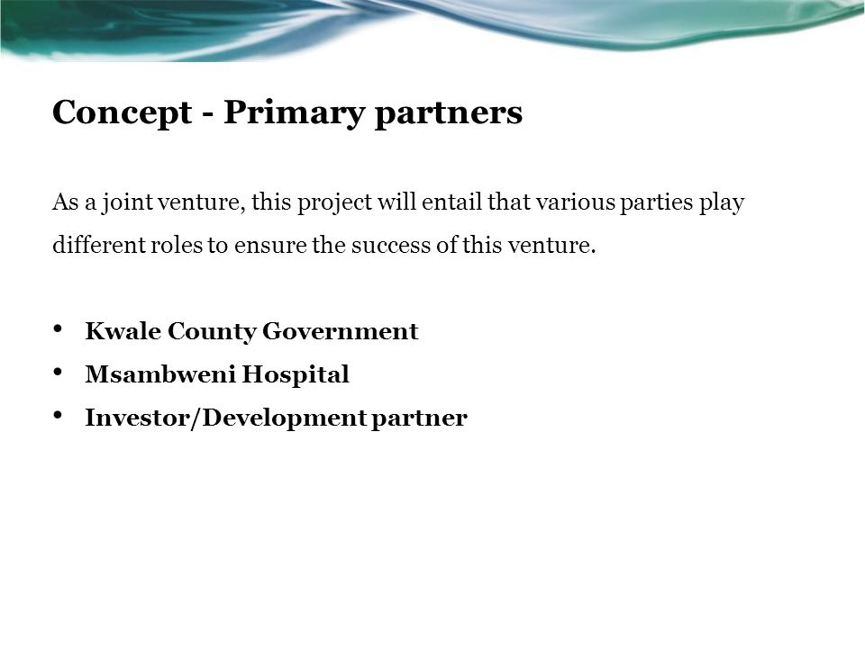 Concept - Primary partners