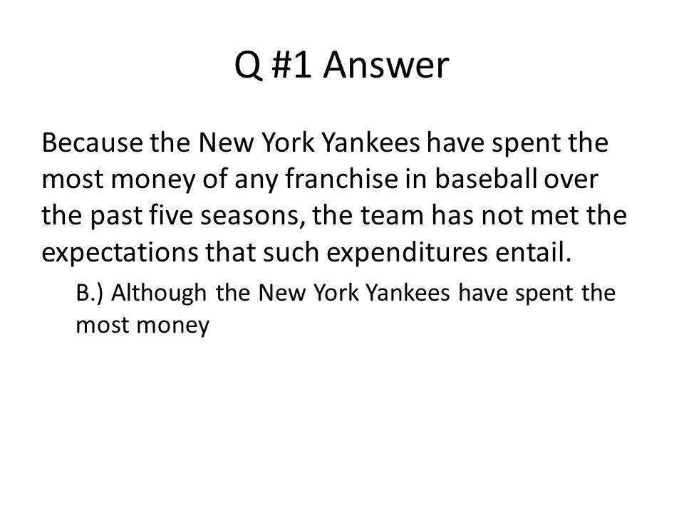 Q #1 Answer