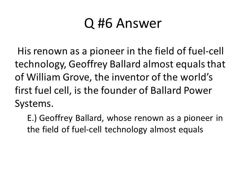 Q #6 Answer