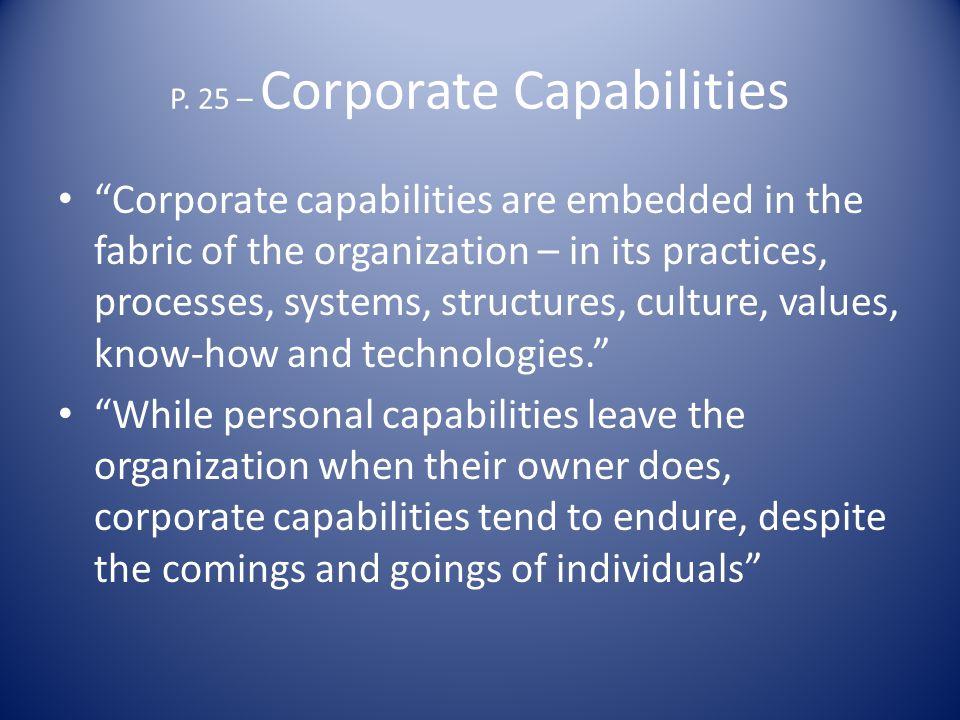 P. 25 – Corporate Capabilities