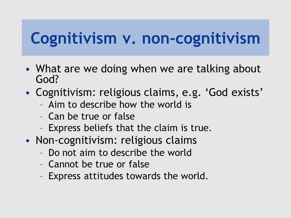 Cognitivism v. non-cognitivism