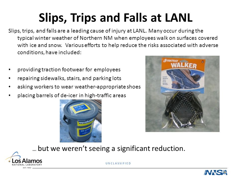 Slips, Trips and Falls at LANL
