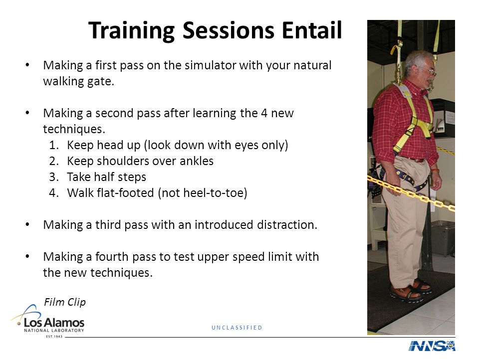 Training Sessions Entail