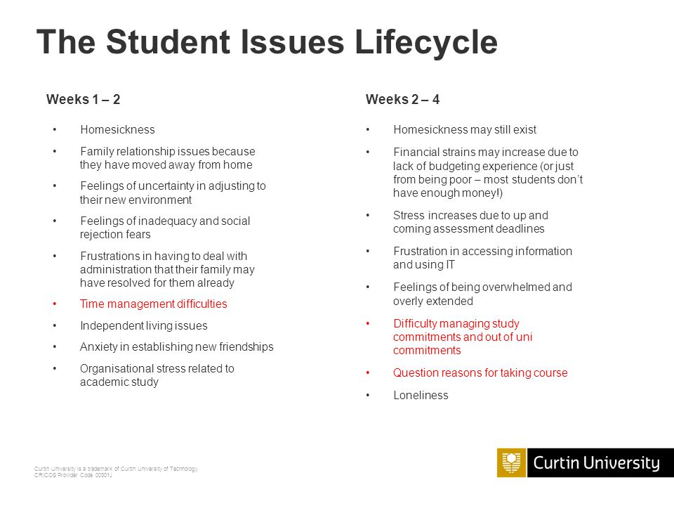 The Student Issues Lifecycle