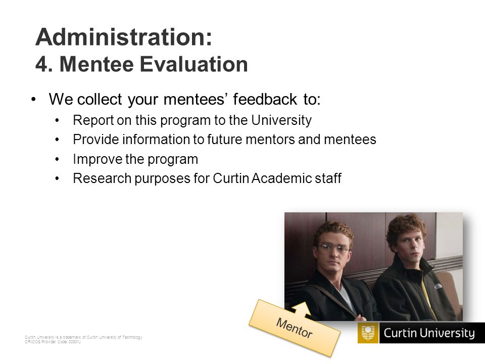 Administration: 4. Mentee Evaluation