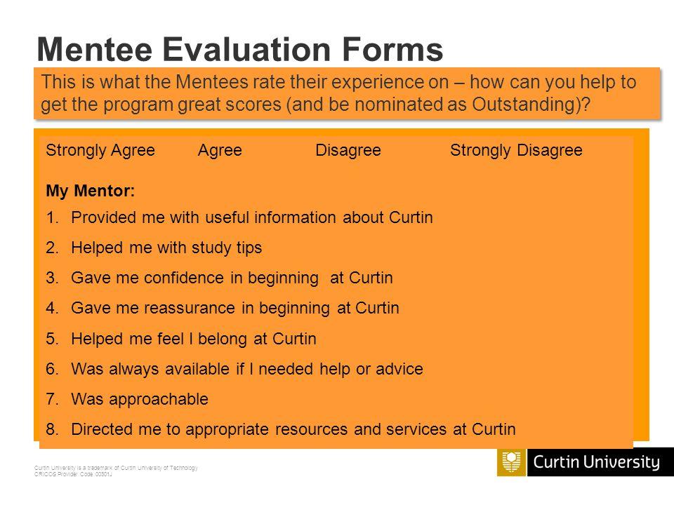 Mentee Evaluation Forms