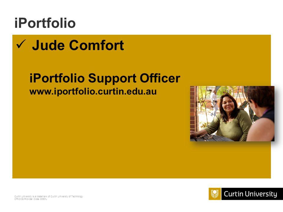 iPortfolio Jude Comfort iPortfolio Support Officer