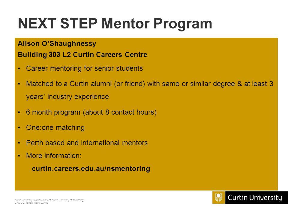 NEXT STEP Mentor Program