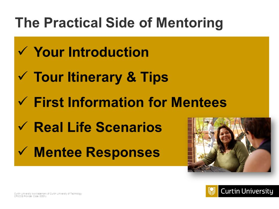 The Practical Side of Mentoring