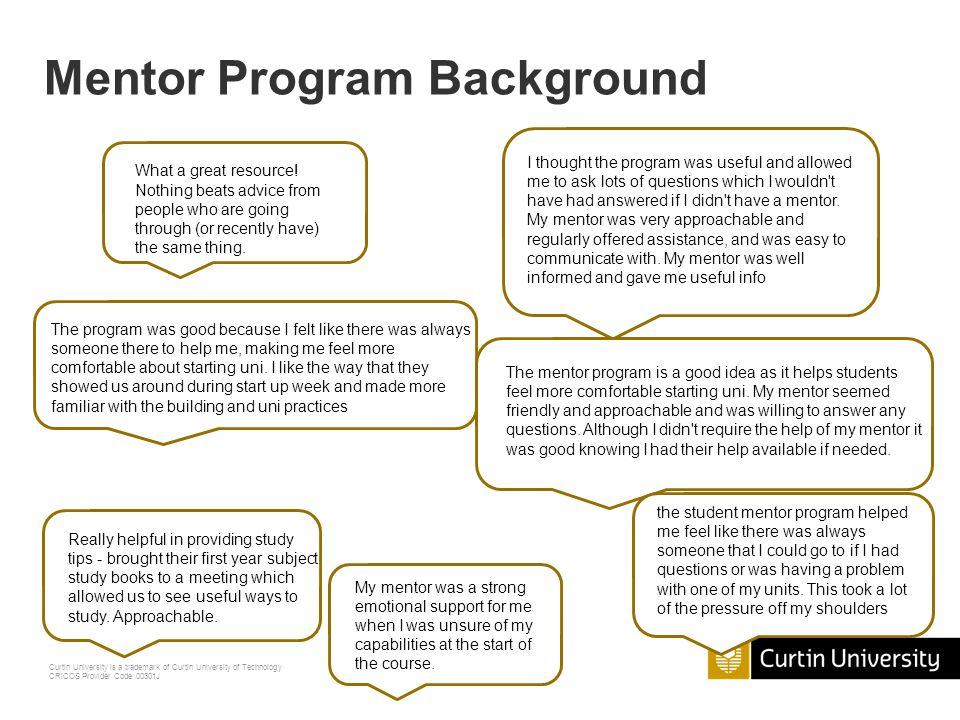 Mentor Program Background