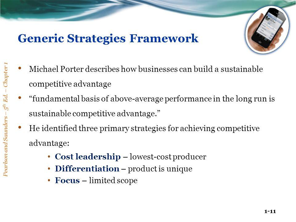 Generic Strategies Framework