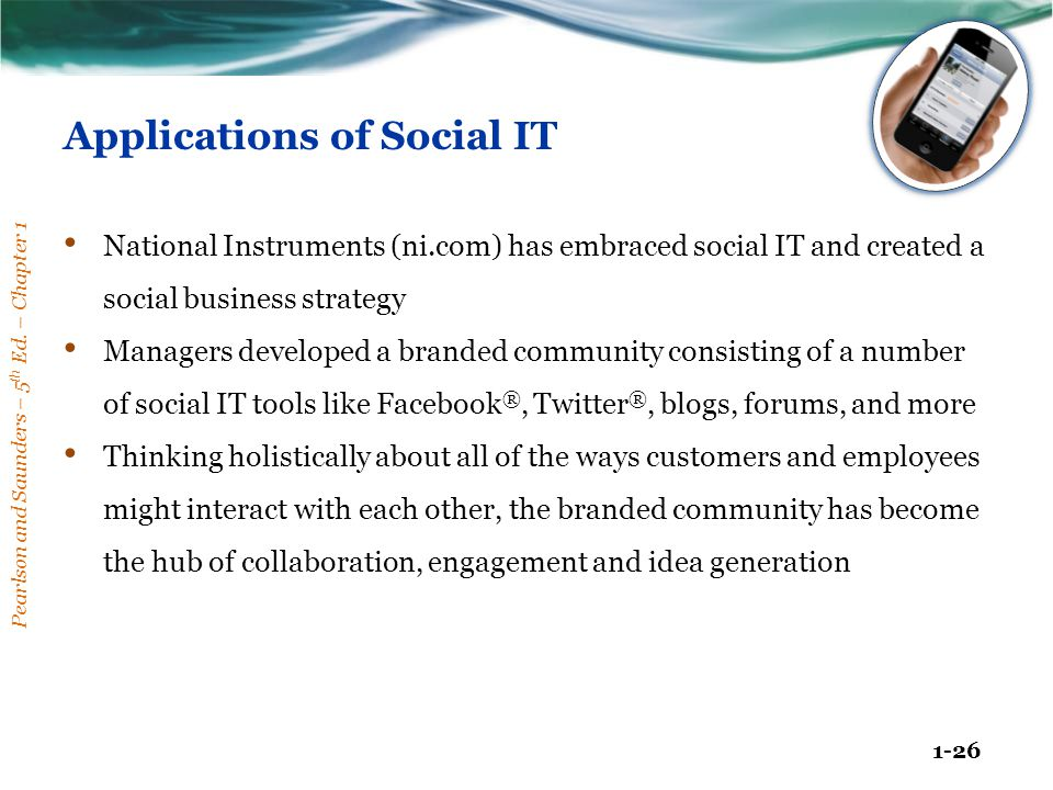 Applications of Social IT