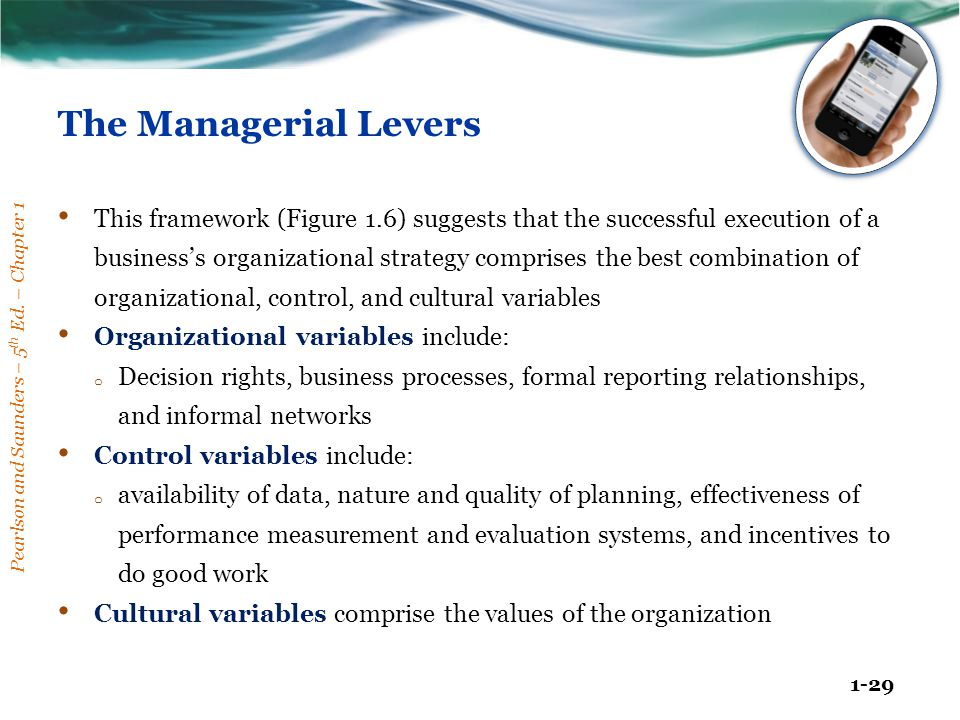 The Managerial Levers