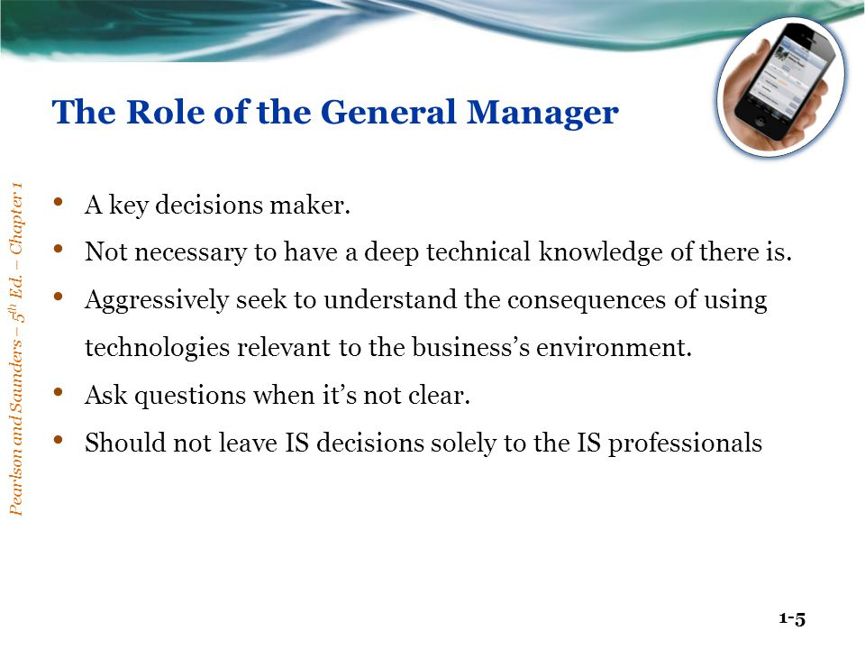 The Role of the General Manager