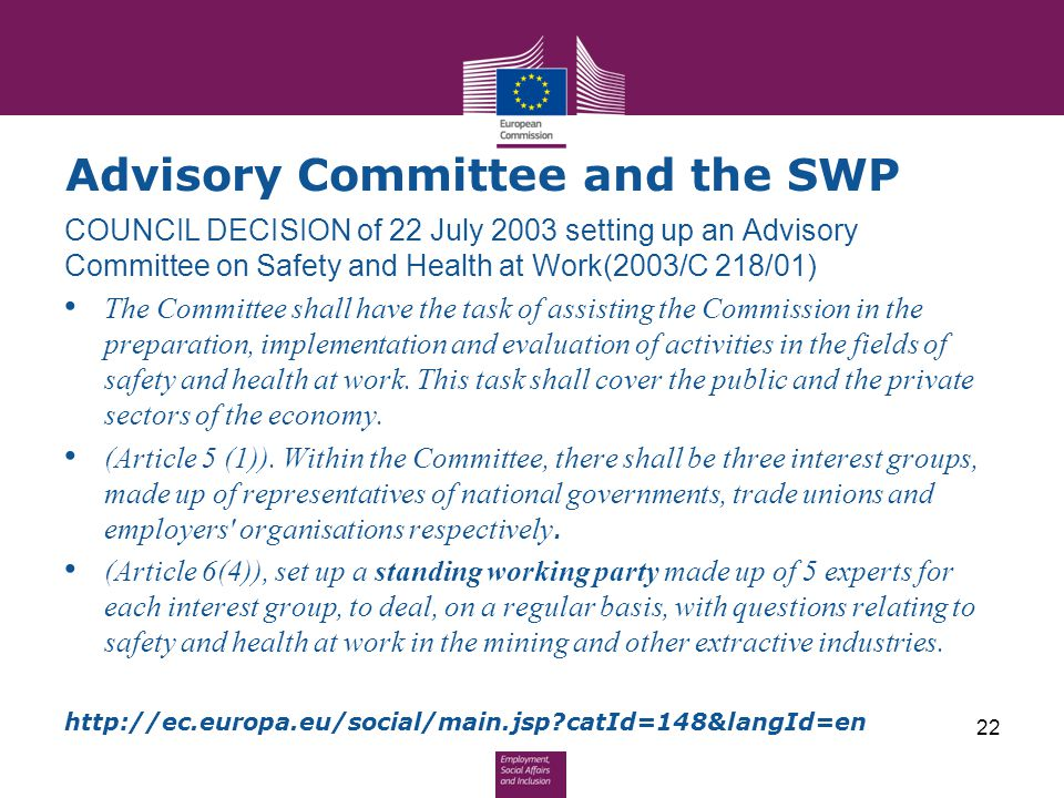 Advisory Committee and the SWP