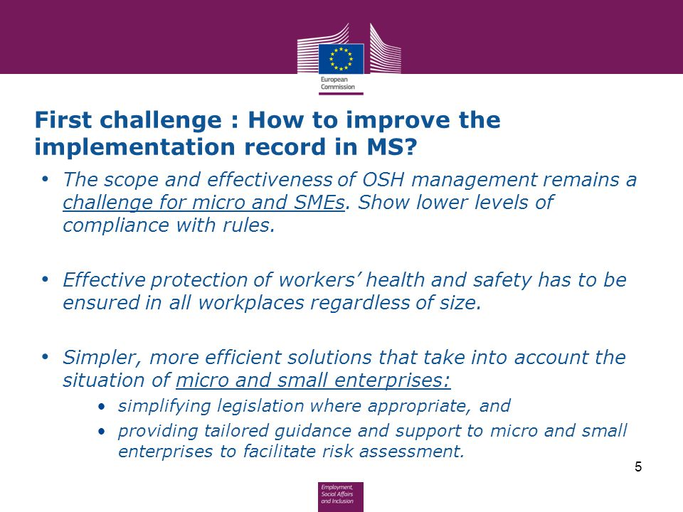 First challenge : How to improve the implementation record in MS