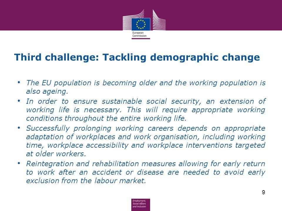 Third challenge: Tackling demographic change