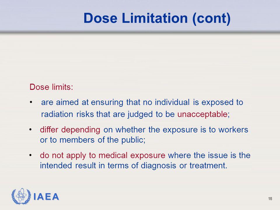Dose Limitation (cont)