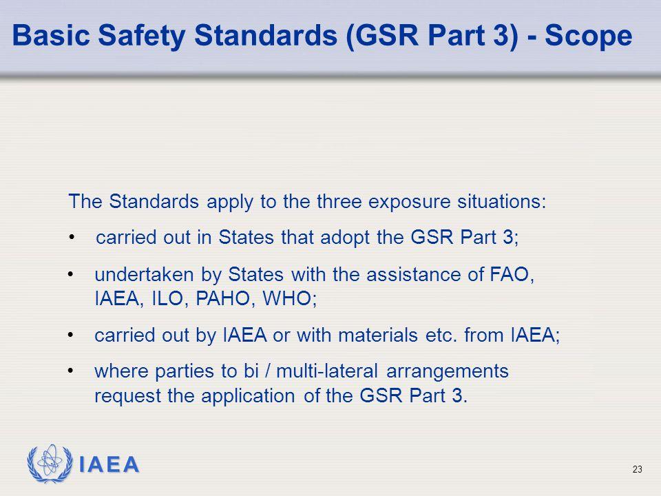 Basic Safety Standards (GSR Part 3) - Scope
