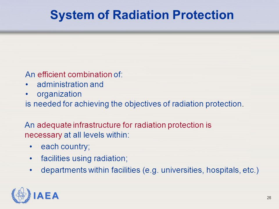 System of Radiation Protection