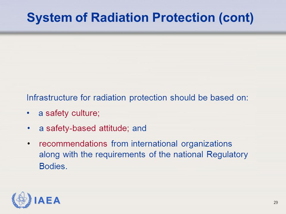 System of Radiation Protection (cont)