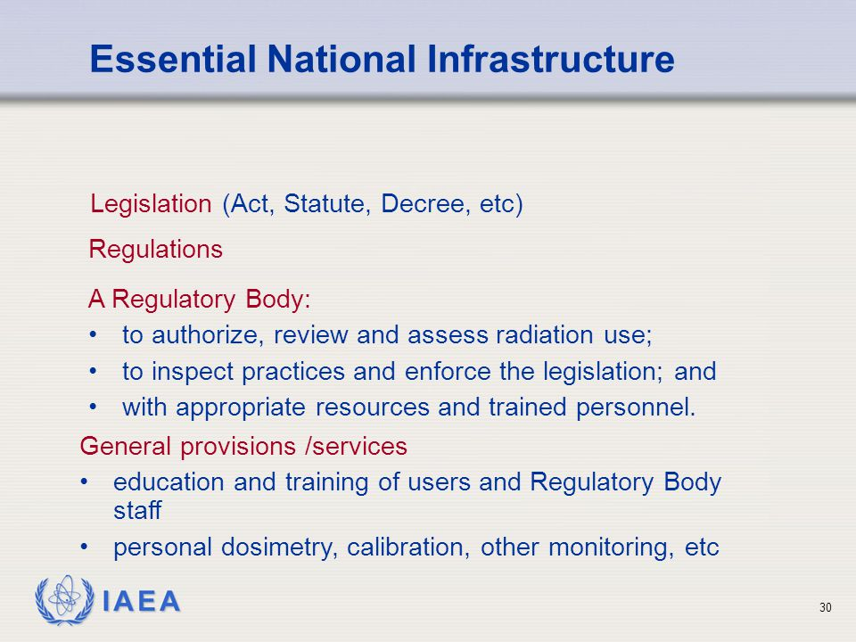 Essential National Infrastructure