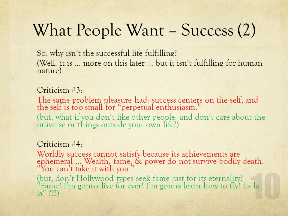What People Want – Success (2)