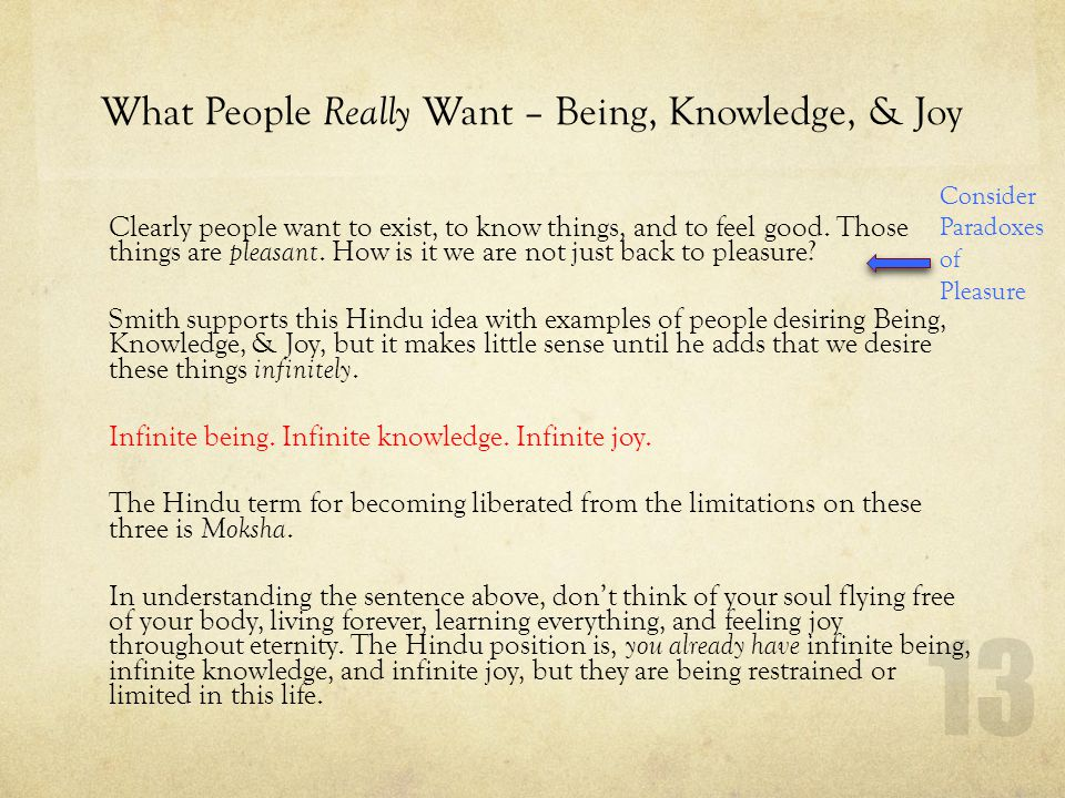 What People Really Want – Being, Knowledge, & Joy
