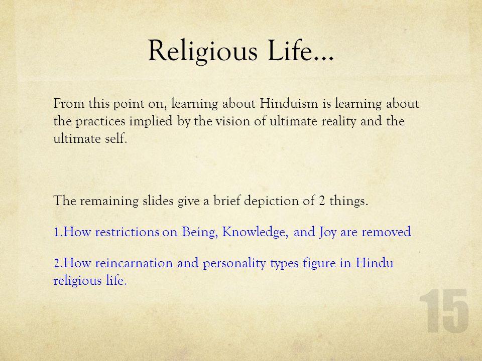 Religious Life…