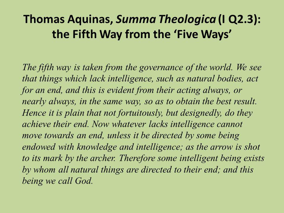 Thomas Aquinas, Summa Theologica (I Q2