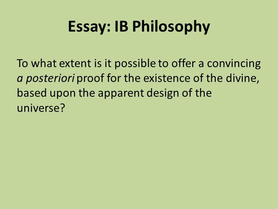 Essay: IB Philosophy