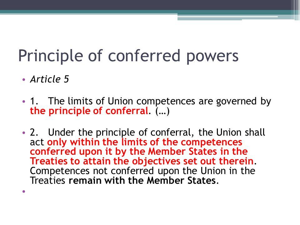 Principle of conferred powers