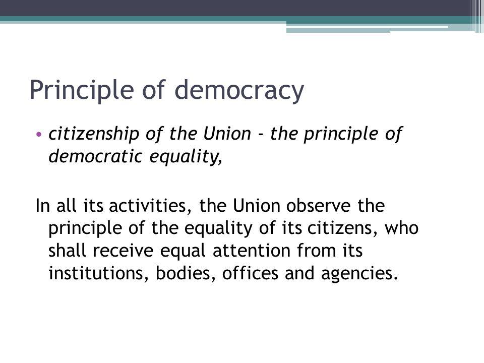 Principle of democracy