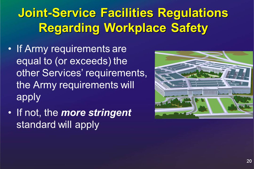 Joint-Service Facilities Regulations Regarding Workplace Safety