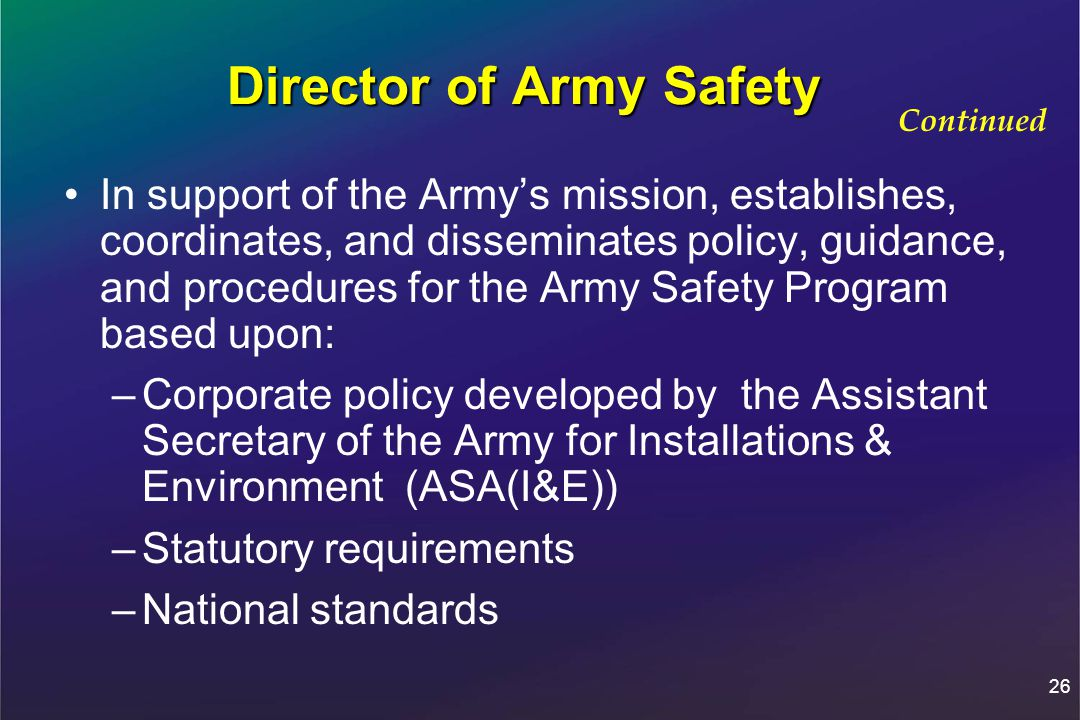 Director of Army Safety