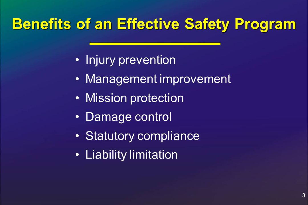 Benefits of an Effective Safety Program