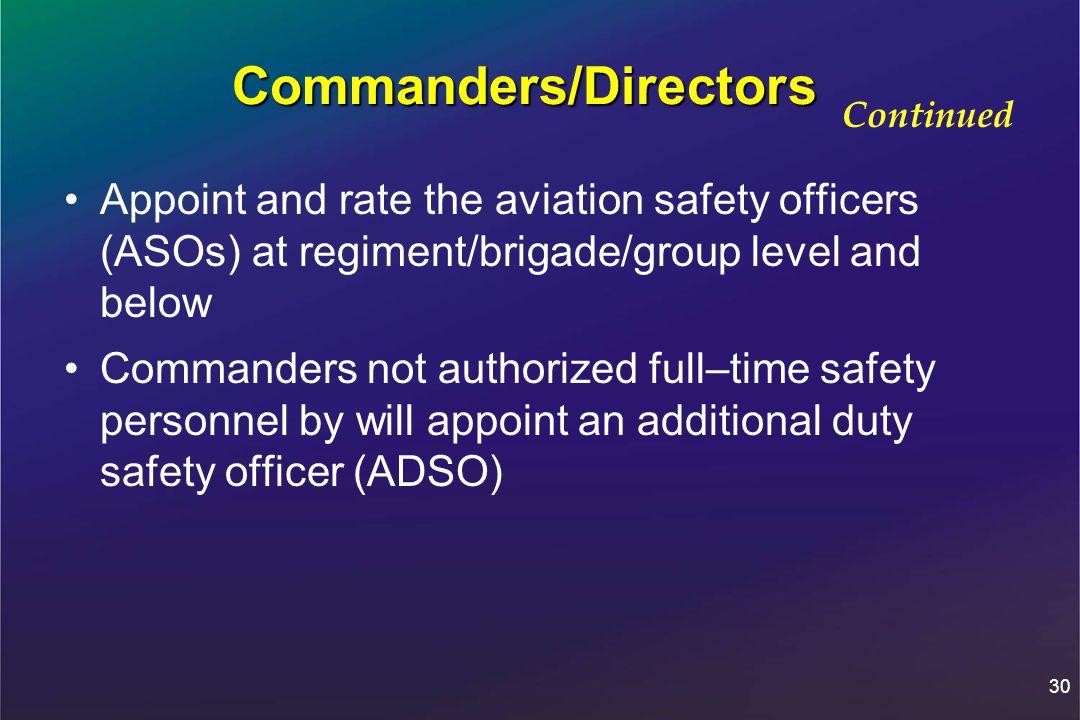Commanders/Directors